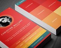Flat Chromatic Business Card