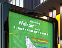 Spaarndammerbuurt billboard, flyers and newspaper