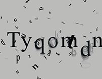 Typomania – Experimental typography video