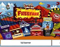 Post Cereals Postopia vector website interface design
