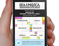Web App Día de la Música 2012