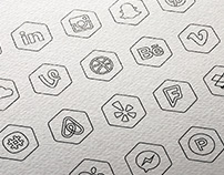 Free Hexagon Icon Set