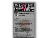 """Race for the Cure"" Flyer/Poster - the Melting Pot"