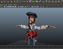 modeling character Pirate in maya 3d