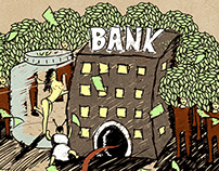 Cinema and Banks Illlustration WTF