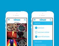 Vimeo App Redesign Concept