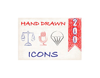 200 Web/Interface Hand Drawn Icons