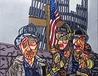 "9-11 48"" X 38"" Oil on Canvas"