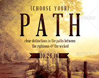 Choose your Path Church Flyer Template