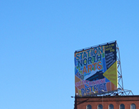 Station North Arts and Entertainment District billboard