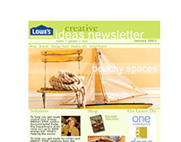 Lowe's email Newsletter Suite