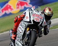 Jorge Lorenzo Ironman helmet ( Indianapolis 2010 )