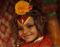 Kumari, the living virgin goddess.