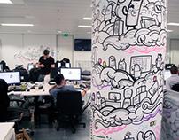 Digital Gurus Office Murals