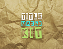 Cartoon Title Maker Kit - Adobe After Effects Template