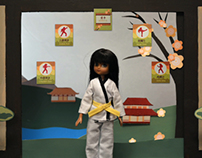Kawaii Karate Lottie Doll Advert