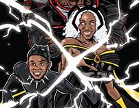 Superhero Family commissions, 2017