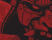 Samurai Rockaganda Art Print