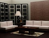 3D Asian-style livingroom