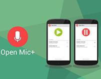 OpenMic+ UI Design