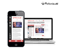 Polonia.dk - redesign, UI/UX design, mobile