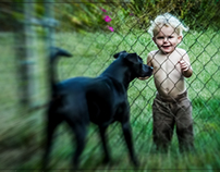 A Boy And a Dog. I want in with you/I want out with you