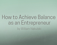 How to Achieve Balance as an Entrepreneur