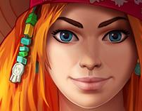 """Treasure Hunter"" Female Character"