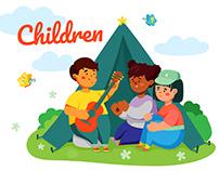 Children - sets of illustrations