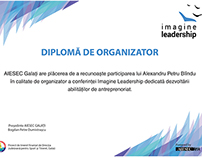 Diploma | AIESEC Imagine Leadership conference