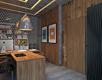 3D Architectural Visualization for CEO Office