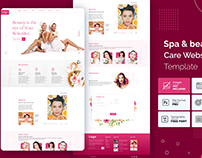 Spa and beauty care website template