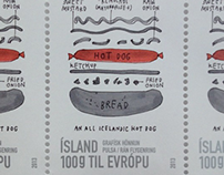 Icelandic Hot Dog Stamp