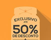 50% Off - Campanha Flat