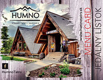 HUMNO Tatry Menu Card