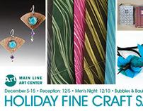 Art Center Holiday Craft Sale Postcard