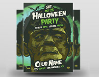 Frankenstein's Monster Halloween Flyer