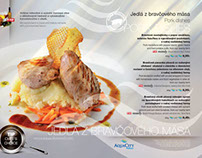 Menu Card AquaCity Poprad 2013