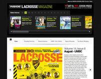 Inside Lacrosse: Magazine Microsite