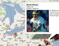 Inside Lacrosse / Under Armour Recruiting Google Map