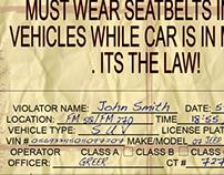 Internal Flier about seatbelt safety