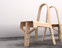 Wood Chair for Art On Chairs Competition . 2012