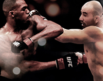 Poster UFC 172: Jon Jones vs Glover Teixeira.
