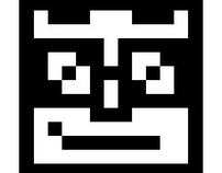 PIXEL FACES PATTERN