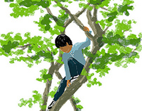 Boy on the tree