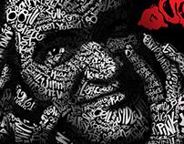 Quentin Tarantino typography portrait