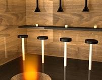 Bar Table Rendering (Maya)