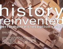 History Reinvented:  Performance & Reception Space