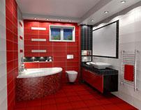 Aquarella Rosso, Σχέδια μπάνιου