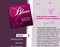 Blanc, Hôtel & Restaurant - Full Flash Website